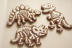 www.SoonerSugar.com. Dinosaur cookies, chocolate cookies, skeleton cookies, royal icing, Sooner Sugar sugar cookies