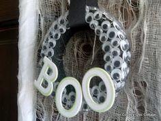 Halloween Wreath using EYES!! ~
