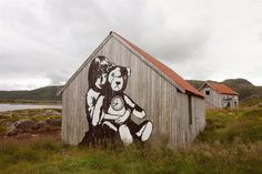 STREET ART LOFOTEN  I stumbled upon a Street Art projekt by Pöbel and Dolk, when visiting the islands of Lofoten in Northern Norway.    More photos at http://cargocollective.com/pierreropero/STREET-ART-LOFOTEN
