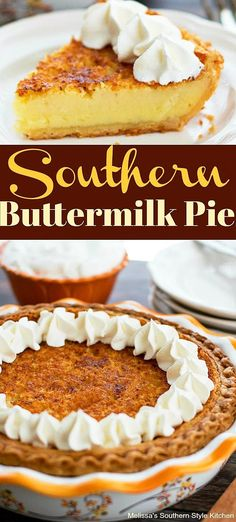 Classic Southern Buttermilk Pie is like a vanilla custard pie with a bit of zing. Ice Cream Recipes, Pie Recipes, Snack Recipes, Dessert Recipes, Fall Desserts, Frozen Desserts, Christmas Desserts, Pies For Christmas, Christmas Holidays