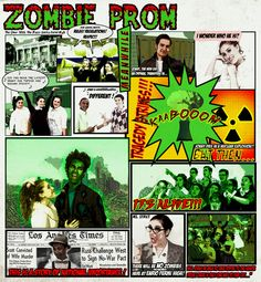 """Look out Houston, zombies will soon be invading 9000 Bellaire Blvd. as St. Agnes Academy and Strake Jesuit College Preparatory students present the comedy """"Zombie Prom! Catholic Colleges, St Agnes, Zombie Prom, 25 March, Auditorium, College Girls, Zombies, Houston, 1950s"""