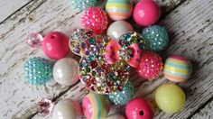 Chunky Bead Big Beads DIY Necklace kit Huge by BigBubbleBeads, $16.00