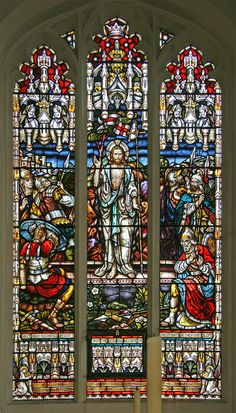 https://flic.kr/p/CnBc5o | Resurrection, Littleport | Stained glass window in the parish church of St. George, Littleport, Cambridgeshire, depicting Jesus rising from the tomb.