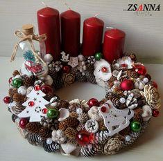 Adventi asztali dísz Advent, Christmas Wreaths, Holiday Decor, Home Decor, Decoration Home, Room Decor, Home Interior Design, Home Decoration, Interior Design