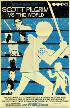 Scott Pilgrim Vs The World vintage style movie by TeamWelser