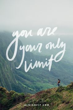 you are your only limit | @albionfit fitspiration