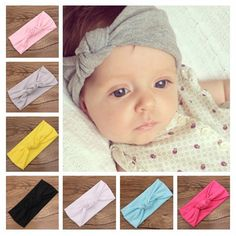 Baby Tie Knot Headband Knitted Cotton Children Girls Hair Band Toddler  Turban Headband Summer Style Headwear bandeau bebe - SMS - F A S H I O N a5370f0fdbb2