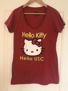 fab78f3f2d3fd Details about USC Trojans Hello Kitty Hello USC T-Shirt Women's Size Large