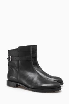 Leather Ankle Boots With Side Buckle - Luxe Sport | Adolfo Dominguez shop online
