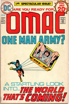 OMAC | One Man Army | Issue No. 1 | Jack Kirby insanity.