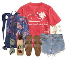 """Show me the stars⭐️"" by kaley-ii ❤ liked on Polyvore featuring Vineyard Vines, Levi's, The North Face, Birkenstock, Ray-Ban, Nashelle, Kendra Scott, Lucky Eyes and Kate Spade"