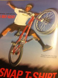 """BMX legend Shawn Butler doing a """"Nothing"""" back in the day in Snap Magazine. Shawn is an awesome rider with pure talent on a bike!"""