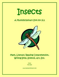 TeacherLingo.com $5.00 - This 43-page Insects Math and Literacy Thematic Unit Plan is great for learning about those little six-legged creatures. The unit is aligned with Common Core State Standards, and includes several activities with instructions and printables.