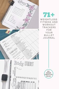 Using my Bullet journal for weight loss: Tracking, Planning and Examples Bullet Journal For Weight Loss, Creating A Bullet Journal, Bullet Journal Tracker, Bullet Journal Junkies, Bullet Journal Layout, Bullet Journal Inspiration, Bullet Journals, Journal Ideas, Fitness Tracker
