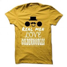 Real men love Goldendoodles - #clothing #sleeveless hoodies. PURCHASE NOW => https://www.sunfrog.com/Pets/Real-men-love-Goldendoodles-Yellow-44366264-Guys.html?60505