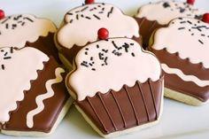 Cómo decorar galletas con forma de cupcake | Recetas para bebés y niños. Meriendas infantiles, desayunos, postres...