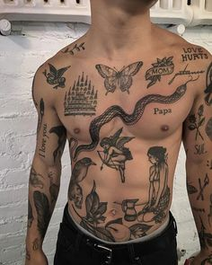 Tatouage Abdomen, Abdomen Tattoo, Torso Tattoos, Boy Tattoos, Body Art Tattoos, Sleeve Tattoos, Tatoos Men, Tattoo Boy, Dragon Tattoos