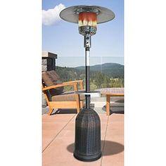 wicker, propane patio heater