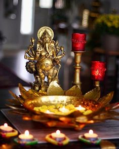 Let there be sparkle and light…… Diwali Decorations, Table Decorations, Happy Diwali, Ganesha, Sparkle, Display, Indian, Inspiration, God