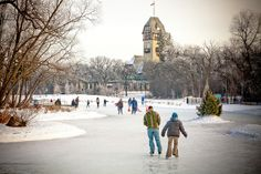 Skating at the duck pond in Assiniboine Park, Winnipeg. Photo by Tara Kenny.