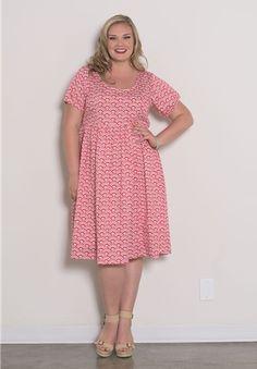 Plus Size Vintage Short Sleeve Dress