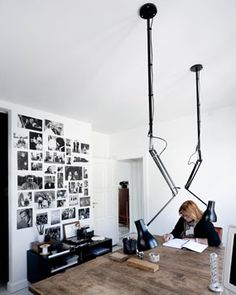 Lights would be great to pull up and down depending upon the creative project or drawing.