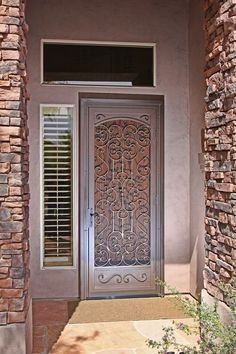 Mediterranean Full | First Impression Security Doors   Mediterranean Full  Security Screen Door With Faux Arch
