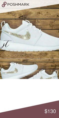 new style 7fc81 ec3c7 Custom Nike Roshe  Swarovski crystals