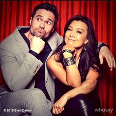 Wondering whether to vote or not? Let me answer that: YES!!! || Brett Dalton, Ming-Na Wen || Instagram || #cast
