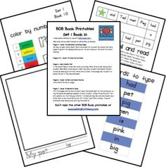 BOB books | Walking by the Way  printables for use with Bob Books