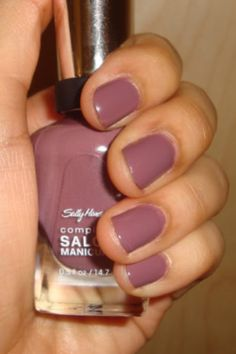 My favorite color right now. Sally Hanson PLUMS THE WORD