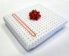 Seja original ao fazer seus pacotes de presente.