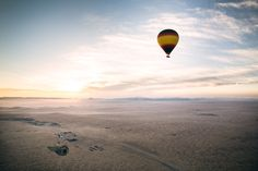 Early morning balloon ride over the desert. Edited withLite.ly. Photo by @Cole Rise.
