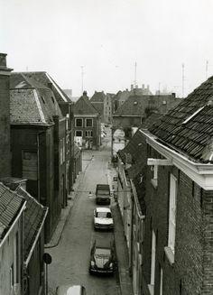 Bitterstraat tussen Roggenstraat en Rodetorenplein vanaf het dak van V & D,