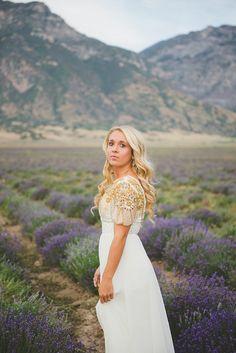 Utah Bridals - Lavender Field - Utah Wedding Photographer     Ashlee Brooke Photography