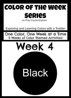 Color of the Week: Black! Lots of activities and sensory bins for exploring the color black!