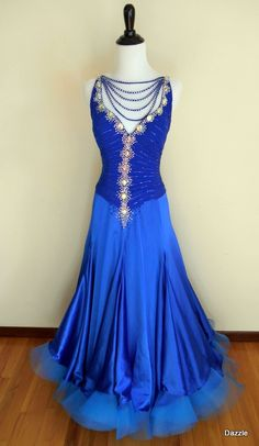 Royal Ball — Dazzle Dance Dress Rentals| Available to rent for your next ballroom competition!  Smooth or standard ballroom dress for rent.  #ballroomdance #ballroomdress #smoothballroomdress