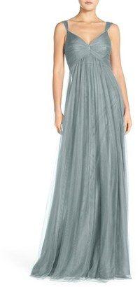 Shop Now - >  https://api.shopstyle.com/action/apiVisitRetailer?id=506001444&pid=uid6996-25233114-59 Women's Monique Lhuillier Empire Waist Tulle Twist Front Gown  ...