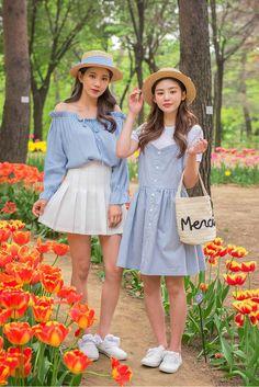 Ulzzang Fashion, Ulzzang Girl, Korean Fashion, Girl Outfits, Cute Outfits, Friend Outfits, Friends Fashion, Girl Fashion, Matching Outfits Best Friend