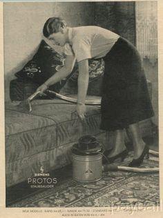 1936 Ad SIEMENS Vacuum Cleaner PROTOS Staubsauger