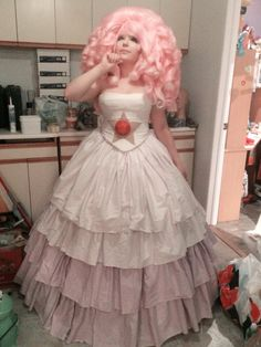 rose quartz cosplay - Google Search << this is such a beautiful rose quarts cosplay! I love the hair especially in this one. Great job!
