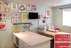 10 Tips to Help Organize your Sewing Room