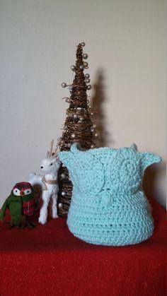 Owl Basket by CherMeCreations on Etsy