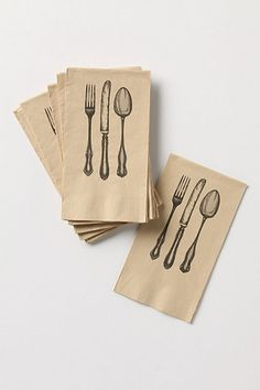 These might be a little confusing for people ACTUALLY SETTING A TABLE. :)  Cute nonetheless.