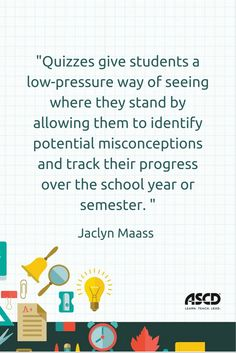 Frequent, low-stakes quizzes provide timely feedback on student learning and take some of the hype and hysteria out of weightier assessments. Learn four must-haves for applying this approach in your classroom, and gather fodder for the types of questions to ask.