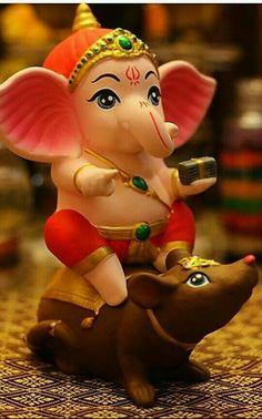 New Cute Lord Ganesha Smiley Wallpaper. Most Famous And Popular Lord Ganesha or bappa wallpaper. Wallpaper by WaoFam. Shri Ganesh Images, Sri Ganesh, Ganesh Lord, Ganesha Pictures, Krishna Images, Clay Ganesha, Ganesha Art, Ganesh Rangoli, Lord Ganesha Paintings