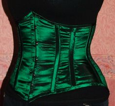 Green underbust corset, pattern and construction blog