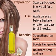Another way I will be using garlic to help reduce my hair loss and improve the over all condition of my hair!