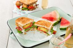 We bow down to whoever decided August should be National Sandwich Month. 🙌 (But we'll take all the credit for this BLT + Spicy Baked Avocado Sandwich! Baked Avocado, Sandwich Recipes, Salmon Burgers, Lettuce, Family Meals, Great Recipes, Spicy, Bacon, Sandwiches
