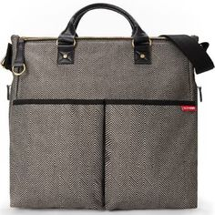 SkipHop Duo Special Edition Diaper Bag Herringbone Tote all of your baby s  items in style with d53436c82f958